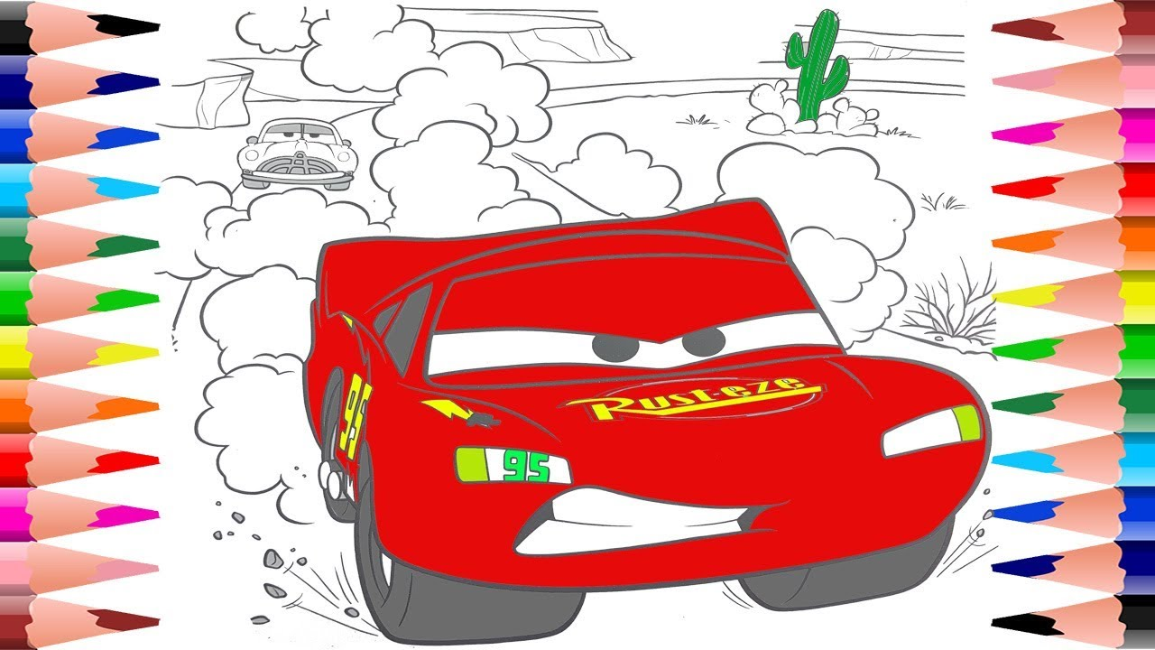 Coloring Disney Lightning McQueen Cars Coloring Pages - Disney Pixar ...