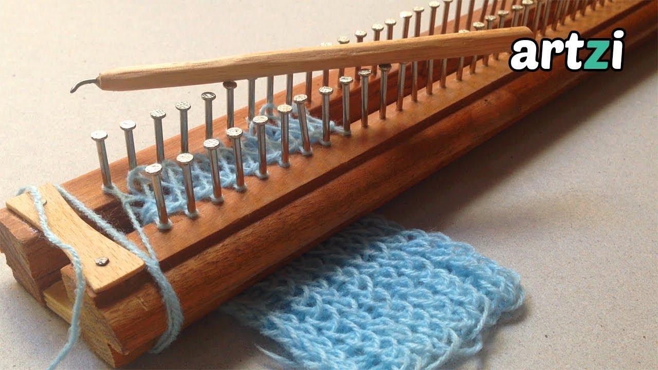 Homemade Knitting Loom And Needle Youtube