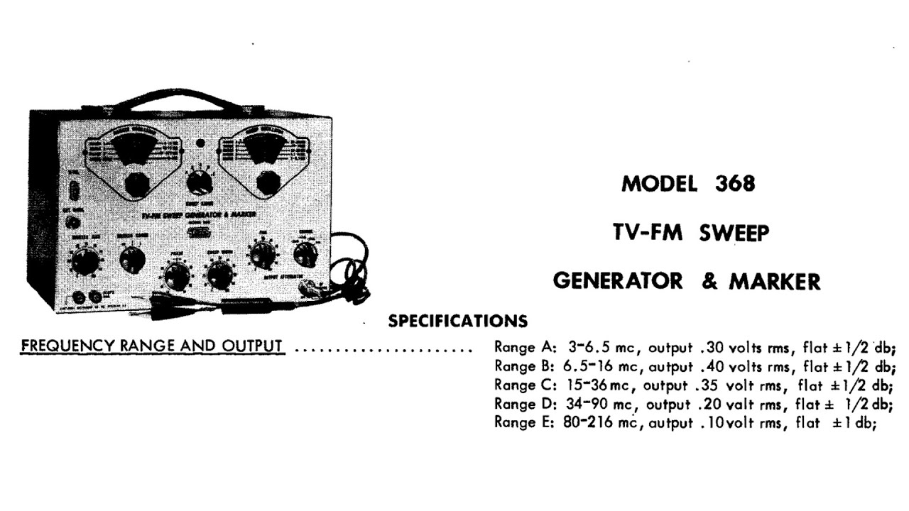 Raleigh NC Flea Market Finds Eico 368 Sweep Generator