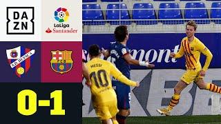 Barca mit knappem Sieg beim Tabellen-Schlusslicht: Huesca - FC Barcelona 0:1 | LaLiga | DAZN