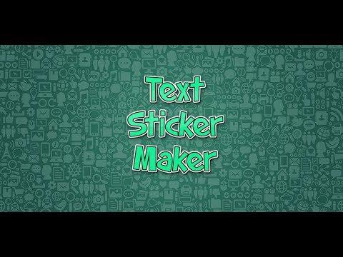 Text Sticker Maker App Demo