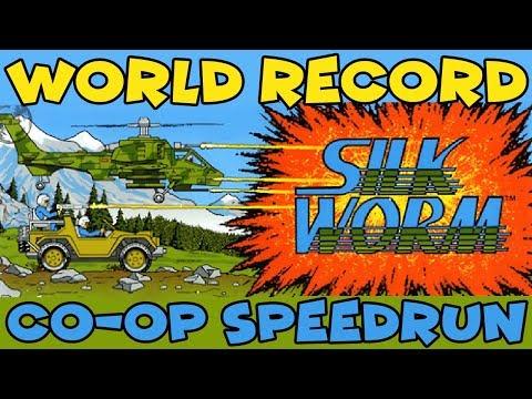 [World Record] Silkworm (NES) Co-op in 21:44