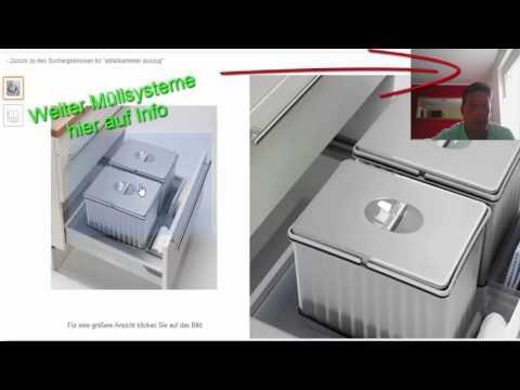 Abfallsystem für Einbauküchen Müllsystem für Auszugschrank Video 3