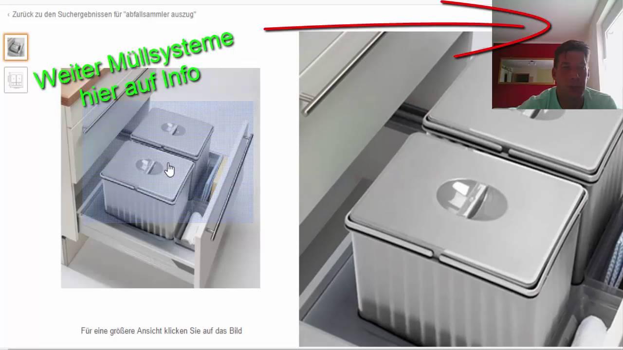 abfallsystem k che auszug hailo einbau m lleimer multi box 2 x 15 l. Black Bedroom Furniture Sets. Home Design Ideas