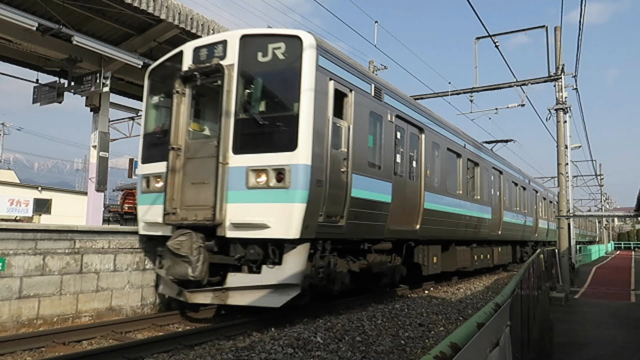 JR東日本 大糸線 信濃大町行き ...