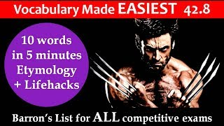 vocabulary made EASIEST 42.8 Learn etymology by puneet biseria in hindi
