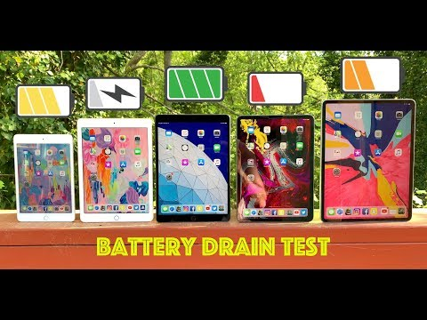 "iPad Battery Drain Test / iPad Pro 12.9"" & 11-Inch vs 2019 iPad Air vs 9.7"" iPad vs iPad Mini 5"