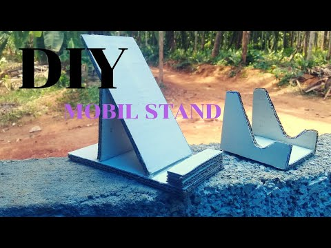 How to make DIY Mobile Stand  very easy  with cardbord