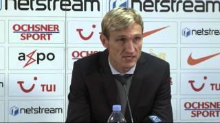 Medienkonferenz nach FC Zürich - FC Sion (1:0)