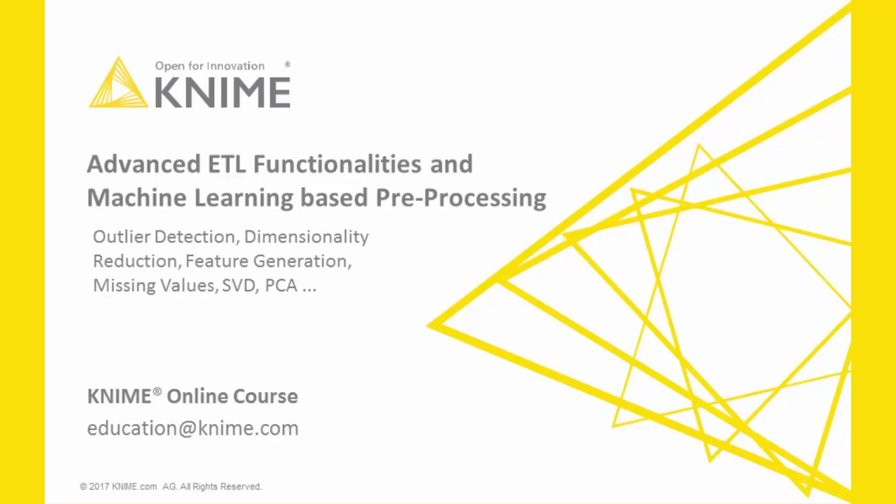 Advanced ETL Functionality and Machine Learning Pre