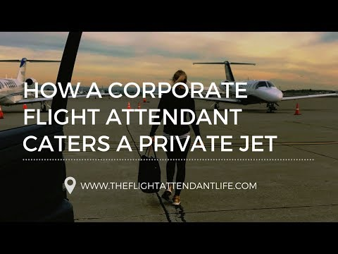 How A Corporate Flight Attendant Caters A Private Jet