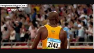 Usain Bolts new world record 100 meter sprint