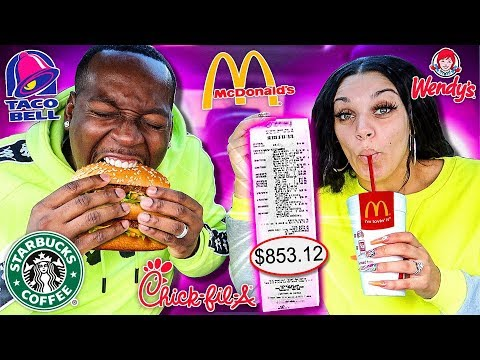 Letting The Person In Front of Us DECIDE What We Eat for 24 HOURS! (Impossible Food Challenge)