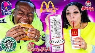 Download Letting The Person In Front of Us DECIDE What We Eat for 24 HOURS! (Impossible Food Challenge) Mp3 and Videos