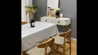 북유럽풍 모던 PVC 식탁보 협탁보 테이블 러너 커버C…