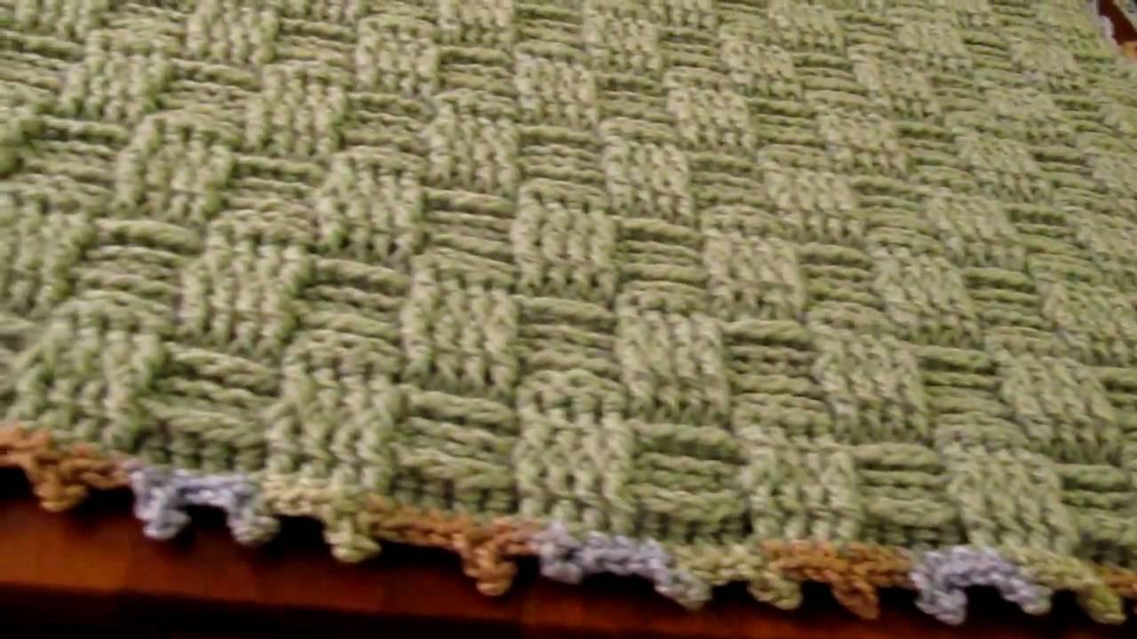 crochet basketweave baby blanket, basketweave baby pillow ...