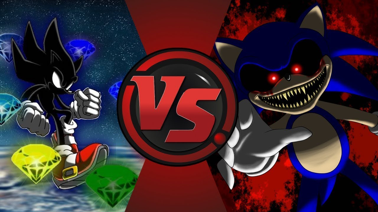 1442f64a6f132 Dark Sonic vs Sonic.EXE! (Sonic X vs CreepyPasta) Cartoon Fight Night!