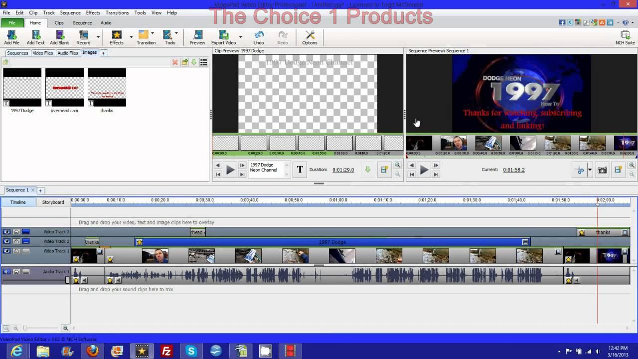 Videopad video editor beta tutorial watermark add text ...
