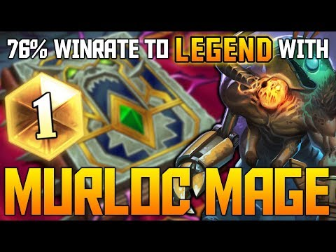 Murloc Mage = EZ Legend | 76% Winrate | The Witchwood | Hearthstone