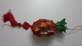 Repeat youtube video CNY TUTORIAL NO. 7 - Chinese New Year Craft - the Pineapple