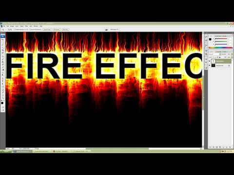 Photoshop CS3 Simple And Realistic Fire Text Effect Tutorial For Beginners