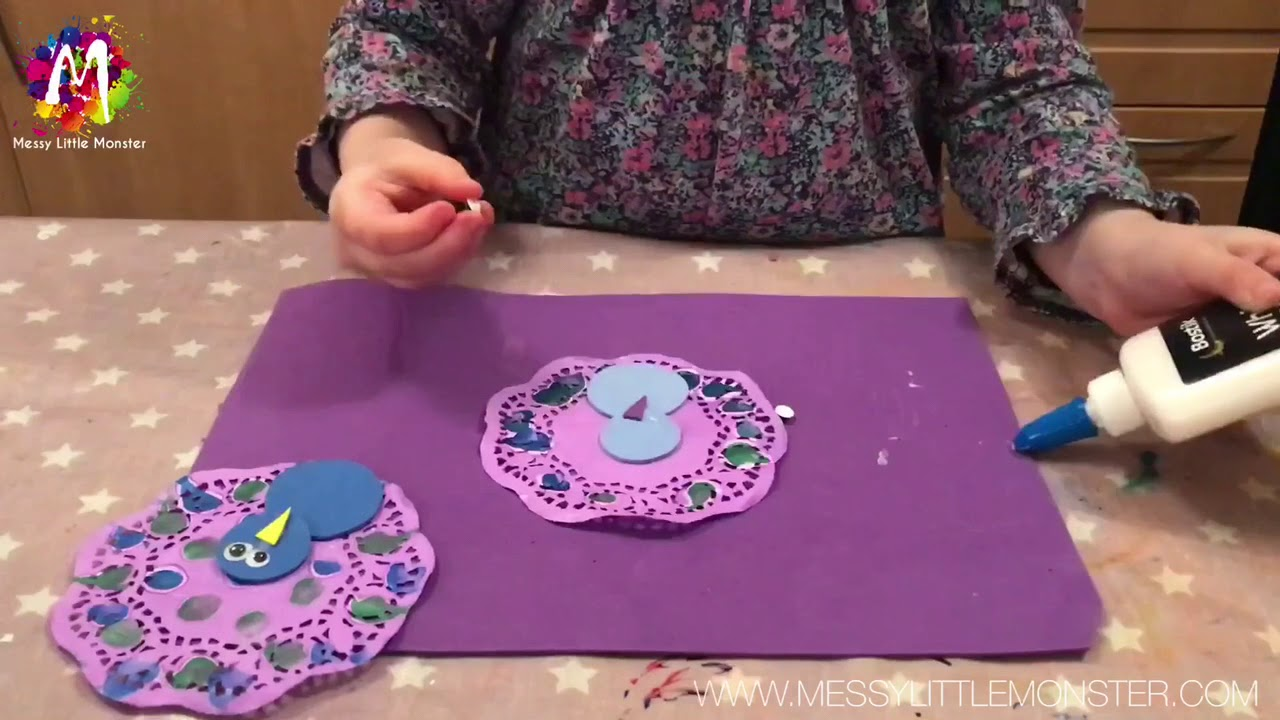 Paper doily peacock craft easy craft ideas for kids youtube paper doily peacock craft easy craft ideas for kids jeuxipadfo Images