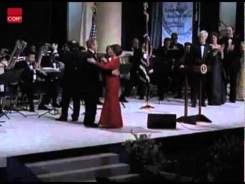 George W. Bush dancing at the inaugural ball