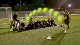 HILARIOUS FOOTBALL TENNIS CHALLENGE!!