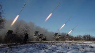 Pro-Russian rebels use multiple rocket launchers near Debaltseve