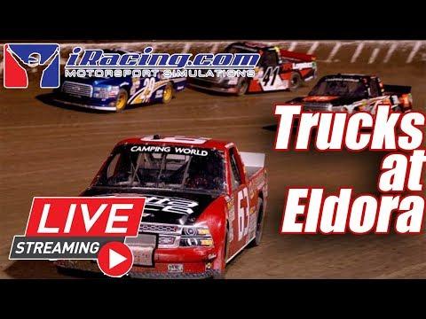 Eldora Speedway NASCAR Trucks - IRacing LIVE