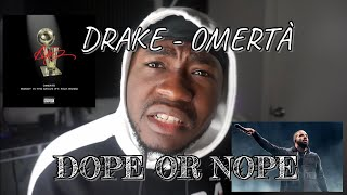 Drake - Omertà (REACTION)