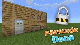 PASSCODE DOOR! - MCPE 0.13.0 Redstone Creations - Minecraft PE (Pocket Edition)