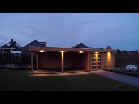 timelaps verlichting tuinhuis