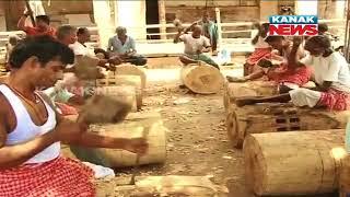 Ratha Yatra 2018: Chariot Construction In Puri
