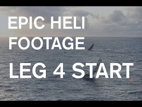 FULL REPLAY: Epic helicopter footage of Leg 4 Start!
