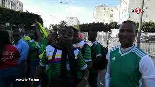 جماهير جزر القمر تزين جنبات ملعب محمد الخامس برقصات وأغاني إفريقية مميزة.