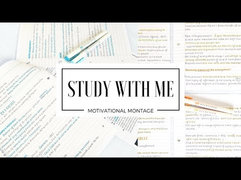 STUDY WITH ME | A Motivational Montage