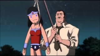 Wonder Woman and meeting (justice league war) - Чудо-женщина и митинг