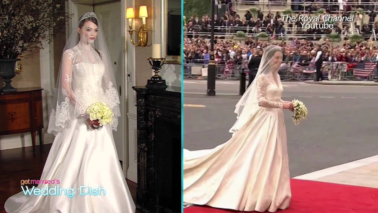 Princess Charlene\'s Wedding Gown - YouTube