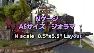 Nゲージ 鉄道レイアウト A5サイズ CURR 2018