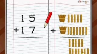 Maths - Two digit addition with carryover - English