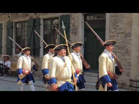 Marche de la Garnison de Québec (Compagnie Franche de la Marine).