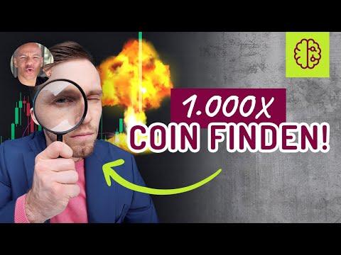 Ist es möglich aus 1.000€  EINE MILLION zu machen ? Wie findet man den Coin ? Meine 7 Schritte.