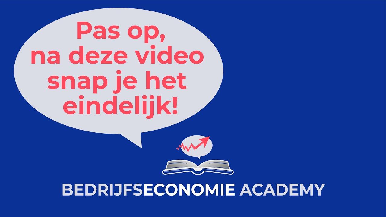 Economie Academy   uitleg bedrijfseconomie   Terugverdienperiode