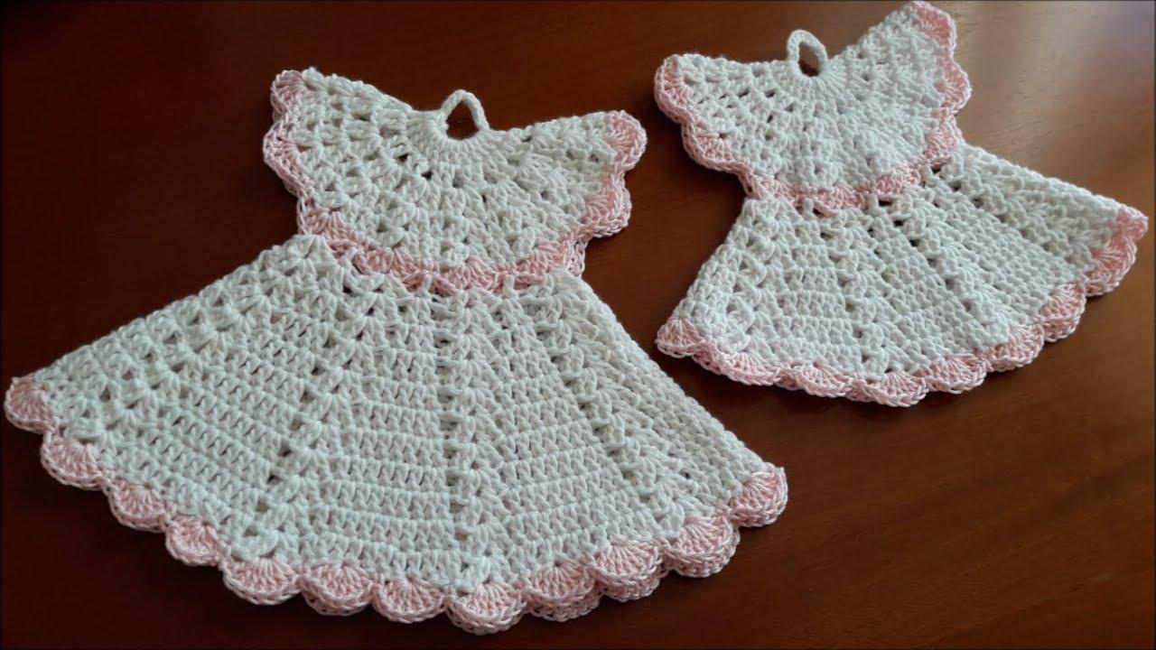 Tutto Uncinetto Bomboniere.Vestido A Crochet Presina Vestitino Vintage Uncinetto Crochet