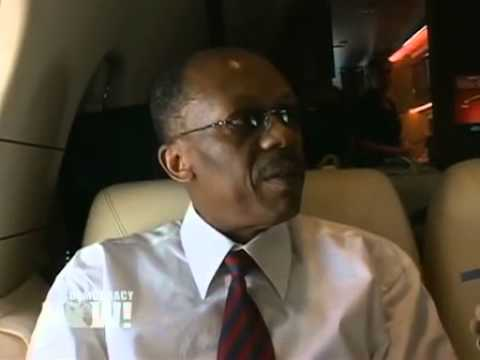 Democracy Now! Exclusive Interview with Jean-Bertrand Aristide on Plane Returning to Haiti. 2 of 3