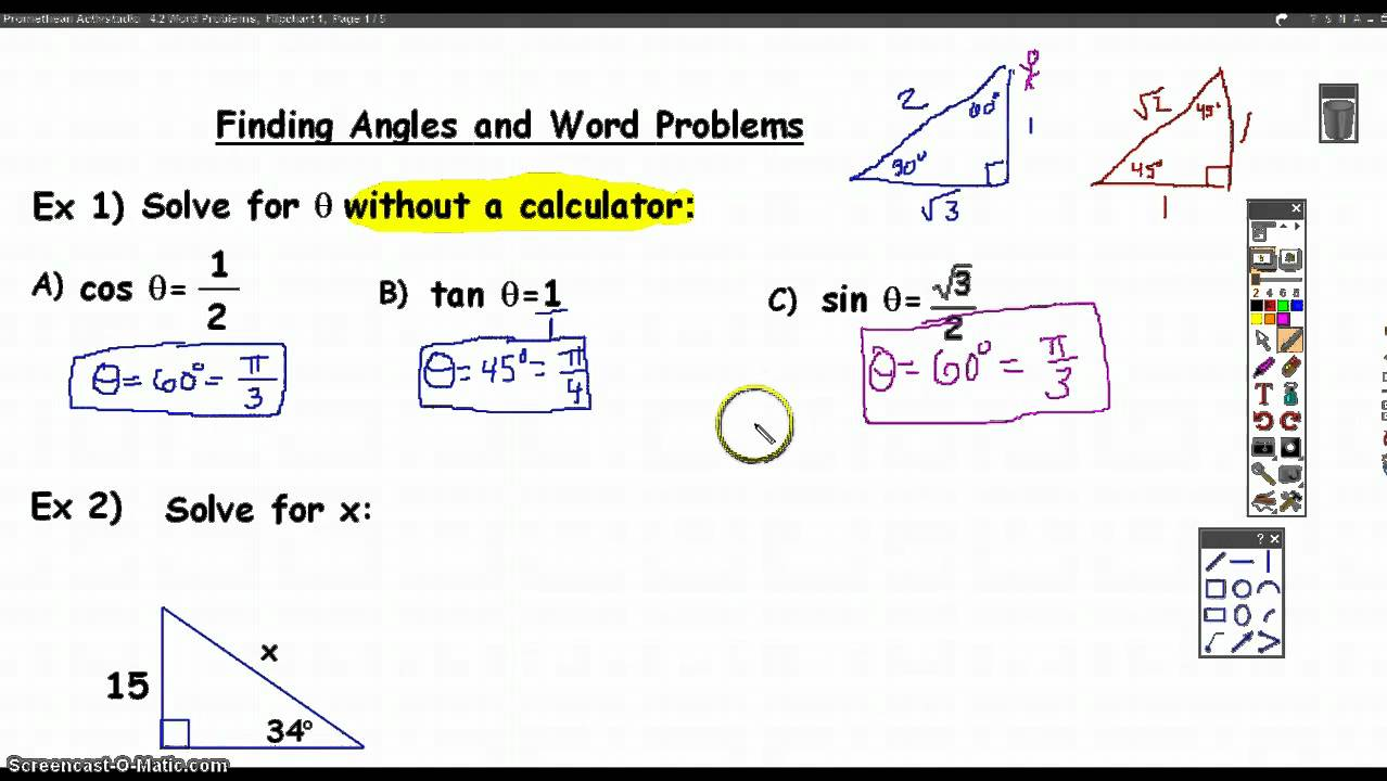 Solving Trig Equations and Word Problems - YouTube