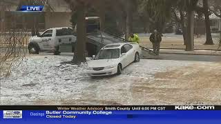 Icy conditions likely led to river rescue