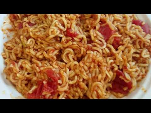 I eat Canned Tomatoes with Instant Ramen Noodles