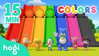 Learn Colors with Hogi's Friends | 15min | Pinkfong & Hogi | Colors for Kids | Learn with Hogi